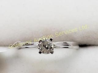 10K  Diamond (I2)(0.25ct) Ring