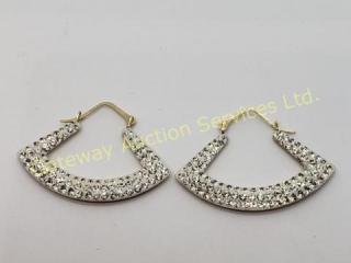 10K Yellow Gold Cz (1.33G)  Earrings