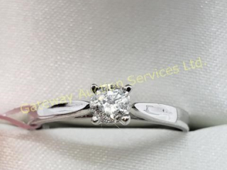 14K  Diamond (I2)(0.2ct) Ring