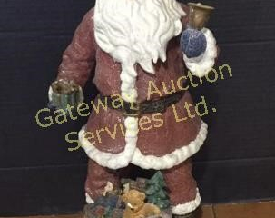 Crackled Glass Santa 19 inches tall