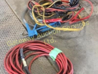Snap On Air Hose, Booster Cables, Grease Gun