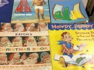 Colouring Books, 1958 Eatons Christmas Catalog,