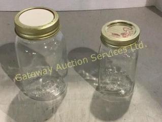 21 - 1 Quart and 9 - Pint Jars......