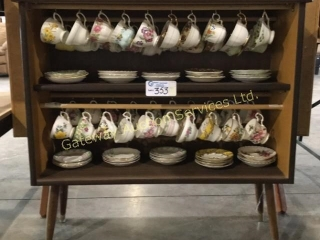 40 Tea Cups & Saucers with Cabinet