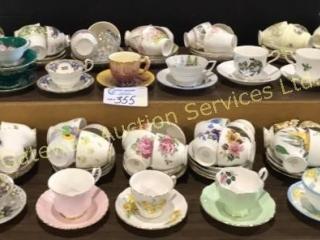 56 Tea Cups & Saucers