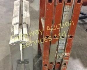 Sturdy Ladder and Platform Ladder Legs are Bent