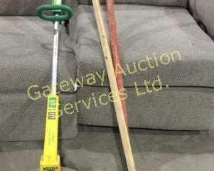 Weed Eater and 2 Garden Rakes