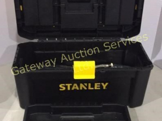Stanley Plastic Tool Box with Assorted Tools