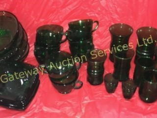 Green Glass - Bowls, Glasses, Cups
