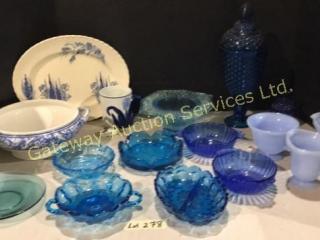 Delft Mug & Shoe, Myott Platter, Wedgewood Bowl,