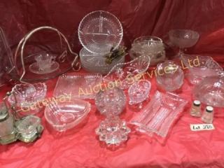 Pickle Dishes w/Forks, Sm Comport Candy Dishes,