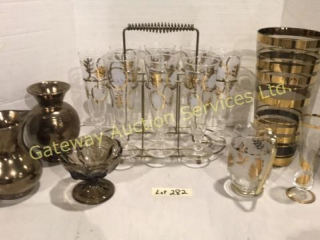 Set of Pilsner Glasses, Vases, Pitchers, Comport