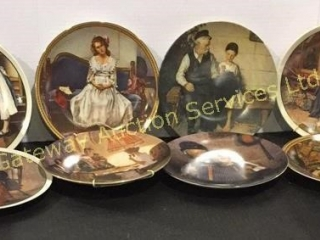 Collection of 8 Norman Rockwell Plates