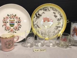 3 pc Hycroft Medicine Hat Plates & Mug Plus