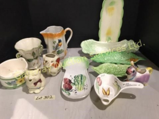 Veggie Serving Dishes, Pitchers, Vase....