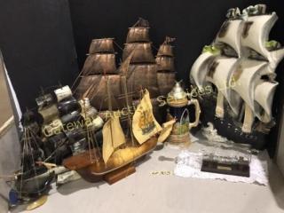 Ship Collection - Chalkware Ship, Ship in Bottle