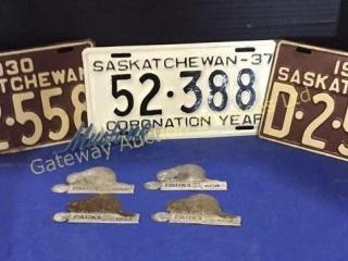 1930/37 Saskatchewan licence plates and 4 parks