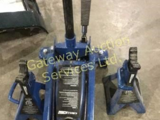 Certified 3 Ton Floor Jack and 2 3 Ton Axle Stands