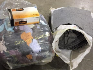 Bag of Shop Rags, Absorbent Cloths, Box of Gloves.