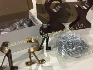 Decorative Brackets and Hooks for Curtains