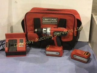 Craftsman 20 Volt Cordless Drill with Charger....
