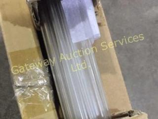 Roman Shade Bars 6 inch Clear Plastic