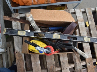 Box of Tools and Carpentry/Plumbing Supplies *ST