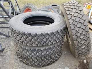 Semi Tire 11R24.5, Must Take 4 Times the Bid Price UNRESERVED