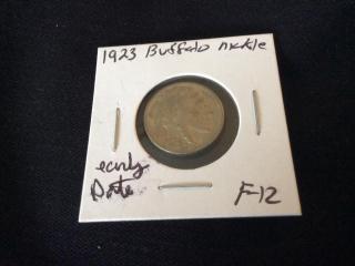 1923 early date buffalo nickel F 12