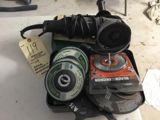Angle grinder and accessories