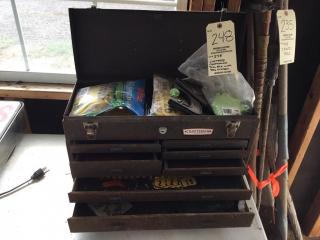 Vintage Craftsman tool box w/ear tags