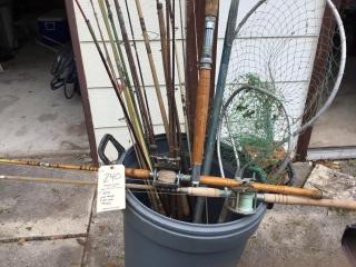 Vintage fishing poles