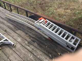 2 pair aluminum loading ramps