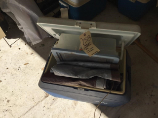 Ice chest and tarps