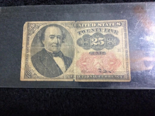 1874 UNION $.25 FRACTIONAL CURRENCY