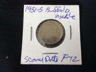 1932 scarce date buffalo nickel