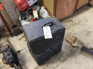 2 empty chain saw boxes
