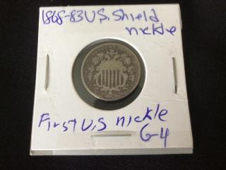 1868-83 US shield nickel