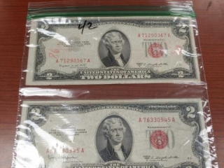 (2) 1953 Red $2.00 Bills including