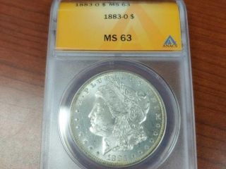 1883 Silver Dollar Coin, MS63