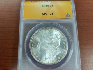 1890-S Morgan Silver Dollar MS 63