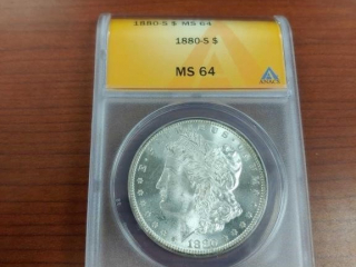 1880-S Morgan Silver Dollar, MS 64