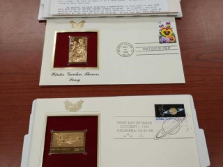 (2) Gold stamp replica stamps as