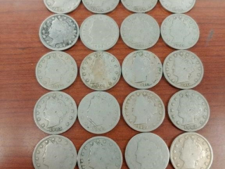 Lot of V Nickels as photographed