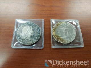 (2) .999 Fine Silver Coins as photographed