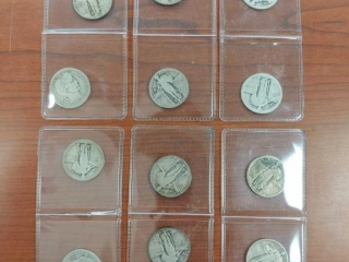 (12) Quarters as photographed including