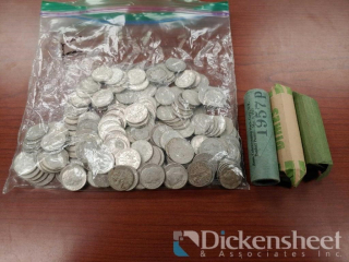 Large lot of Dimes as photographed,