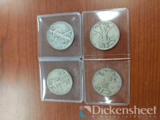 (4) Walking Liberty Coins including