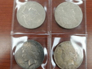 (4) Silver Eagle $1 Coins including