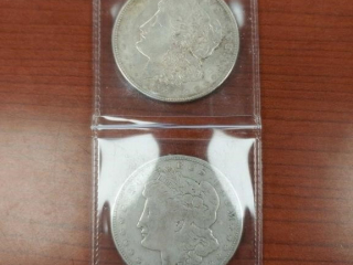 (2) 1921 Morgan $1 Coins